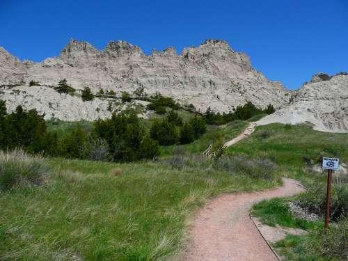 Badland National Park South Dakota Usa Hot Dry