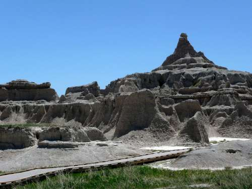 Badland National Park South Dakota Usa Erosion