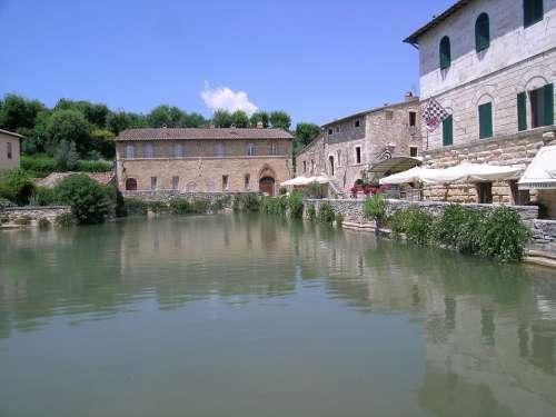 Bagno Vignoni Tuscany Italy