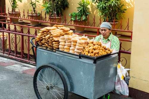 Bakery Saleswoman Warorot Market Chiang Mai