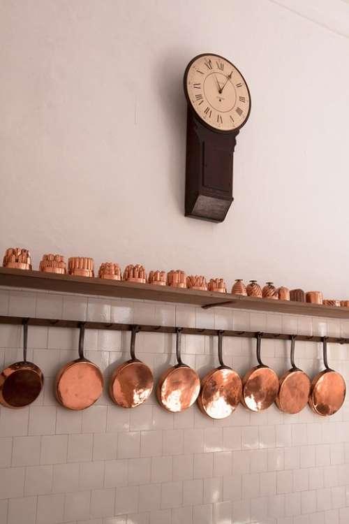 Baking Moulds Pans Copper Old Antique Kitchen