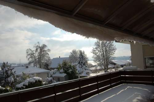 Balcony Winter Snow