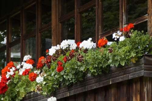 Balcony Glazed Old Farmhouse Facade Glasses