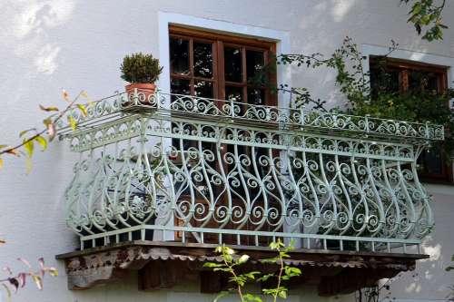 Balcony Wrought Iron Iron Railing Ornament