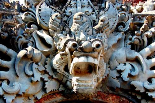 Bali Temple Mask Faith