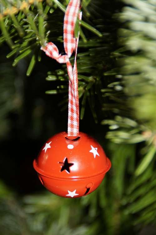 Ball Bell Red Christmas Tree Decorations Fir Tree