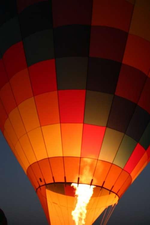 Balloon Sunrise Yellow Fire Glow Blaze Flame