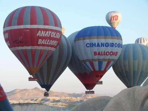 Balloon Hot Air Balloon Captive Balloon Drive Color