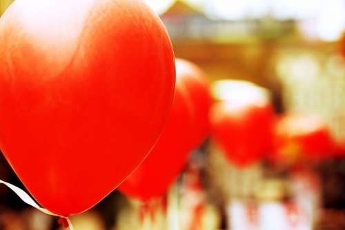Balloon Red Party Celebration Colorful Fun