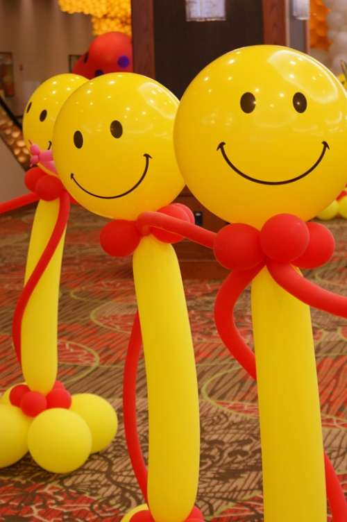 Balloons Happy Smiley Faces Smiling Smile Face