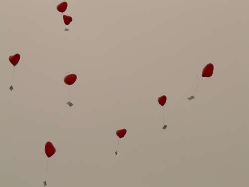 Balloons Heart Love Cards Flying Romance
