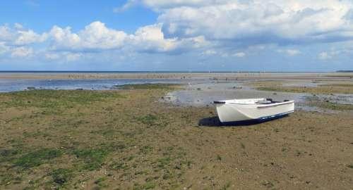 Baltic Sea Sea Watts Boat Water Beach Landscape