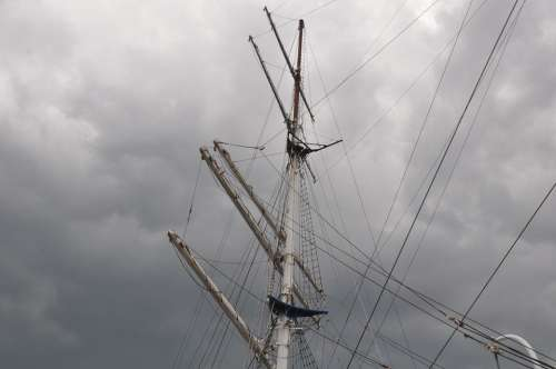Baltic Sea Rigging Coast Sailing Vessel Sea