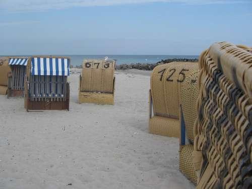 Baltic Sea Beach Chair Beach Sand