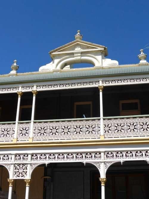 Balustrade Decoration Metal Ornate Style White