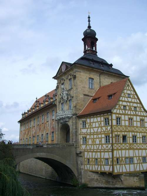 Bamberg Town Hall Bridge Regnitz