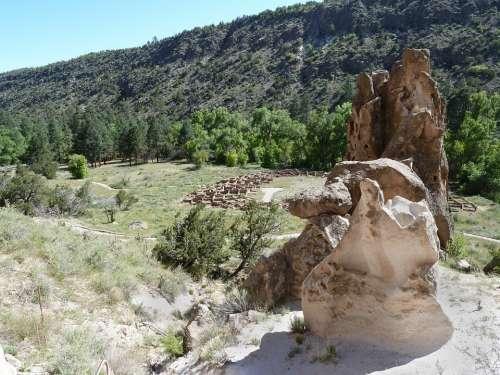 Bandelier National Monument Rocks Nature