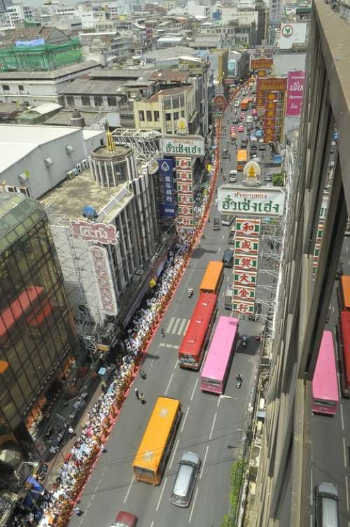 Bangkok Thailand City Urban Metropole Asia Street