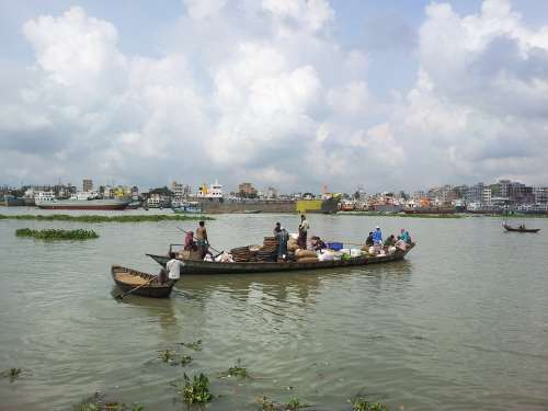 Bangladesh Dhaka Buriganga River Boat People Asia