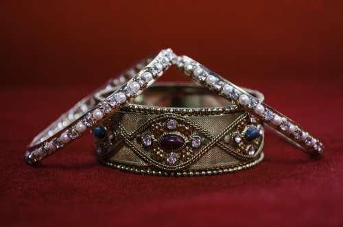 Bangle Diamonds Bracelet Jewelry Glamour Fashion