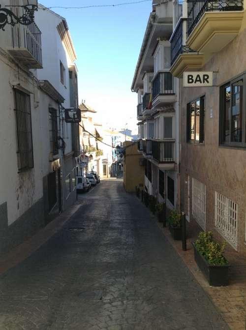 Bar Alley Street Dark Alley Torrox Spain Spanish