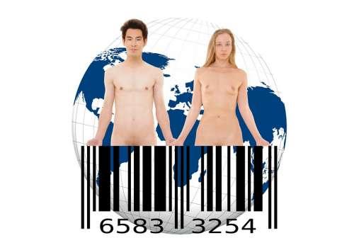 Bar Code Barcode Scan Lines Goods Earth Globe