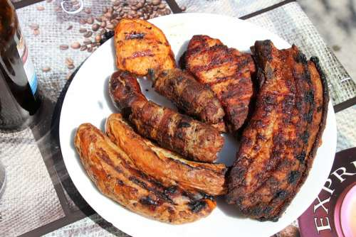 Barbecue Meat Grill Bbq Food Party Grill Sausage