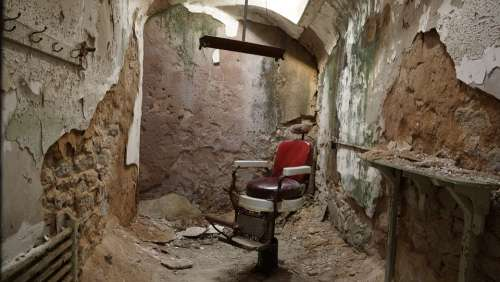 Barber Shop Chair Barber Salon Male Prison