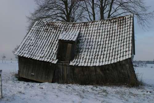 Barn Barns Broken Barn Old
