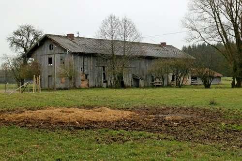 Barn Farm Farmhouse Building Ruin