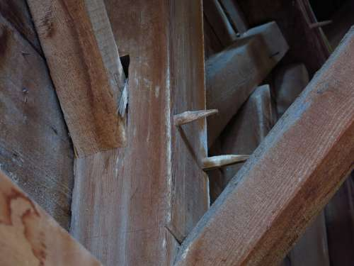 Barn Beam Old Wooden Farm Building Timber Plank