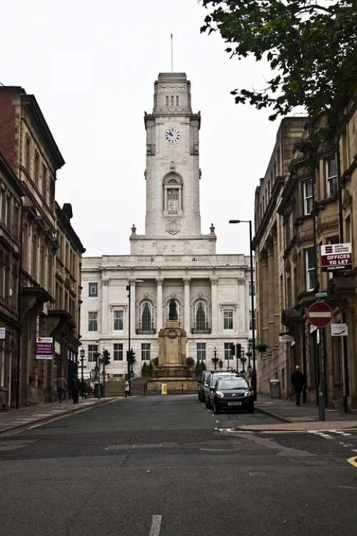Barnsley Town Hall Architecture Building Clock