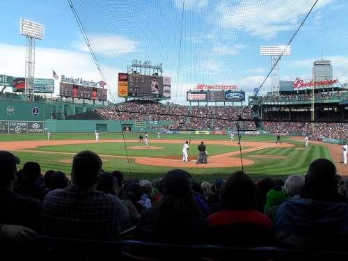 Baseball Sports Stadium Audience League Boston