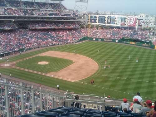 Baseball Field Crowd Game Stadium Sports Usa