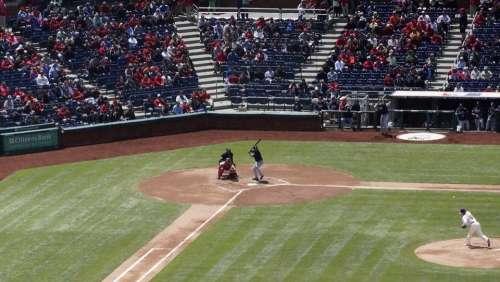 Baseball Pitch Throw Ball Sport Game Player