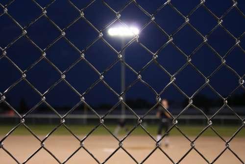 Baseball Fence Chain Link Chain Link Field Sport