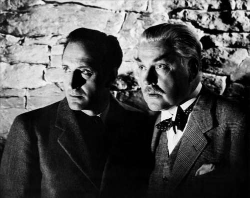Basil Rathbone Nigel Bruce Actors Sherlock Holmes
