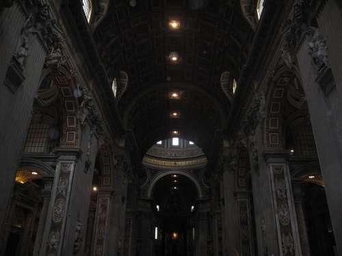 Basilica San Pedro Paneling Architect Europe Italy