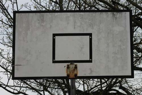 Basketball Basketball Hoop Defect Broken Destroyed