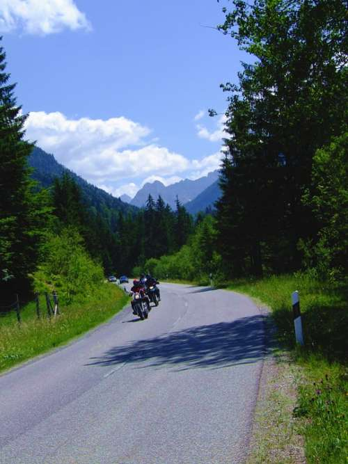 Bavaria Mountains Motorcycles Travel Germany