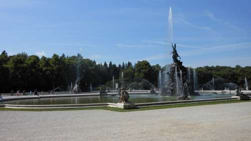 Bavaria Fountain Germany Prien Am Chiemsee Summer