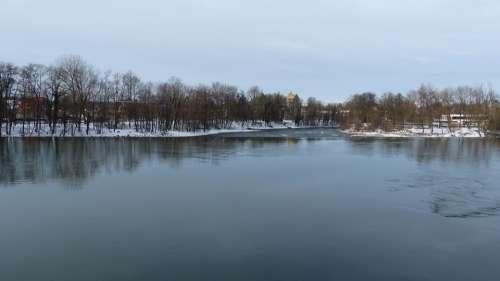 Bavaria Landsberg Lech Water Weir Primeval Force