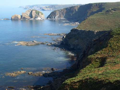 Bay Of Biscay Rocks Out Asturias Costa Nature