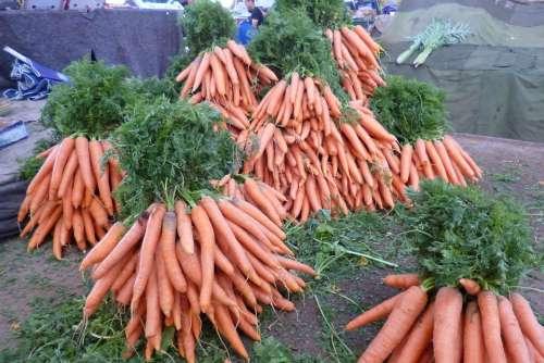Bazaar Market Carrots Vegetables Carrot Food