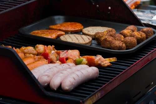 Bbq Party Food Meat Vegetarian Sausage Sausages