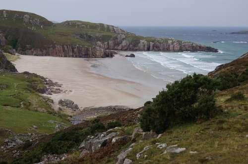 Beach Highlands And Islands Sea Scotland
