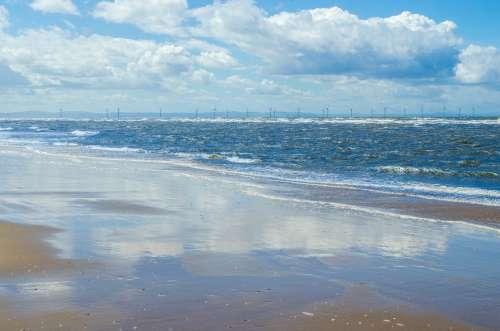 Beach Sand Sea Sky Cloud Cloudy Holiday Blue