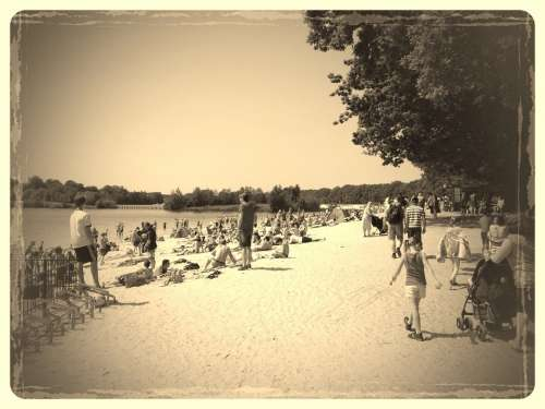 Beach Vintage Sand Water Vacations