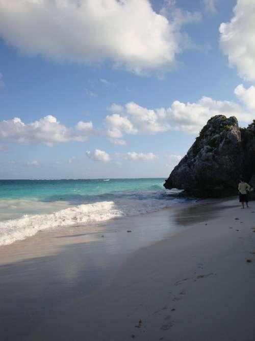 Beach Tropical Mexico Waves Sky Clouds Beauty