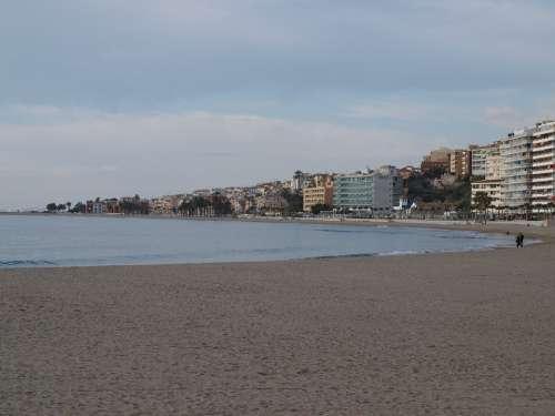 Beach Sea Spain Water Winter Villajoyosa Cold